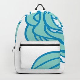 Polynesian Woman Flowing Hair Mascot Backpack