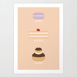 French Desserts Art Print