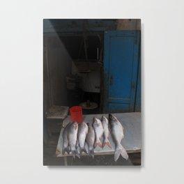Fish stall in Kathmandu Metal Print
