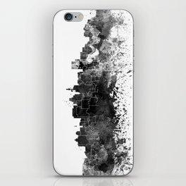 Durban skyline in black watercolor iPhone Skin