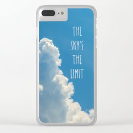 Sky's the limit - cloudscape Clear iPhone Case