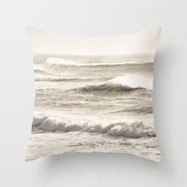 Windswept Waves Throw Pillow
