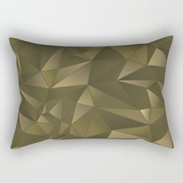 Bronze Abstract Rectangular Pillow