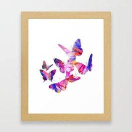 Pink Butterflies Framed Art Print
