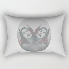 Horn demon Dark Art Rectangular Pillow