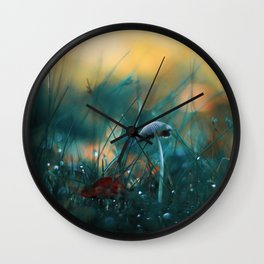 Fire in the Water Wall Clock
