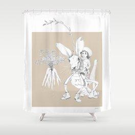 Weird & Wonderful: Harehopper Shower Curtain