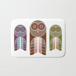 Owl With Kaleidoscope Eyes Bath Mat
