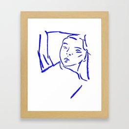 Reclining woman Framed Art Print