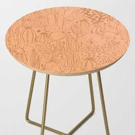Cactus Scene in Orange Side Table