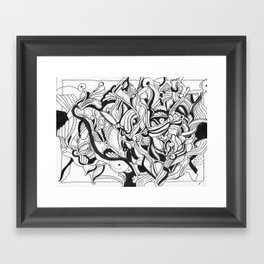 Squiggly Wiggly Lines Framed Art Print
