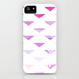 Watercolour Triangles Magenta iPhone Case