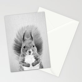 Squirrel 2 - Black & White Stationery Cards