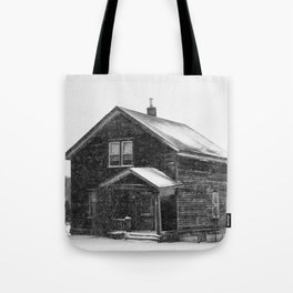 Weathered Black and White Tote Bag