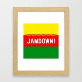Jamaican design 3 - Jamdown Framed Art Print