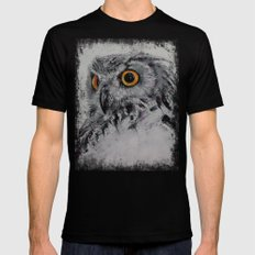 Spirit Owl MEDIUM Black Mens Fitted Tee