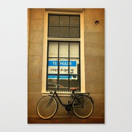 Amsterdam Dutch Bikes: The Contemporary Black Beauty Canvas Print