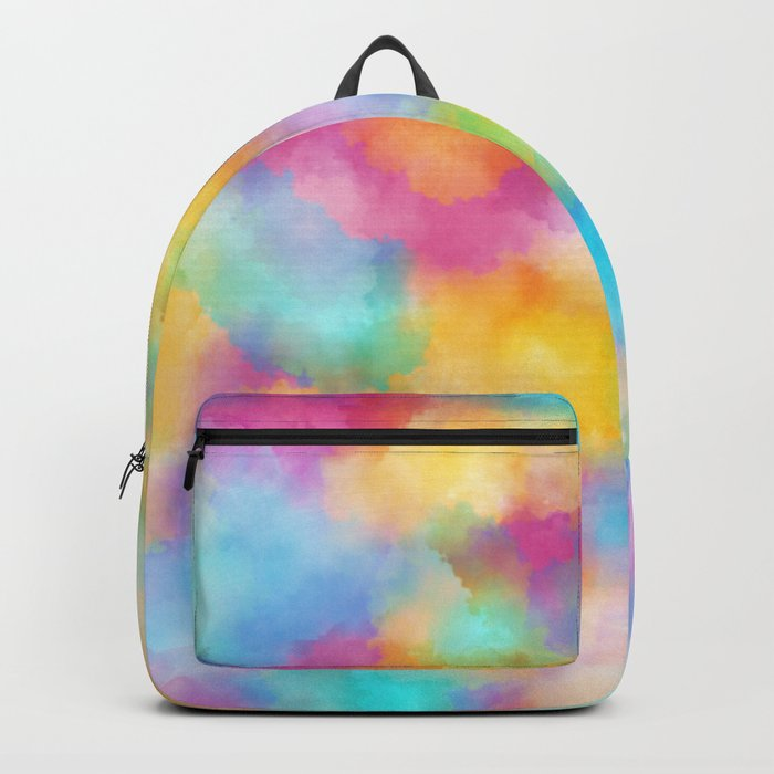 Watercolor Rainbow Abstract Art Backpack