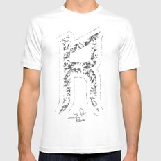 R - is for Rare - white version Mens Fitted Tee White MEDIUM