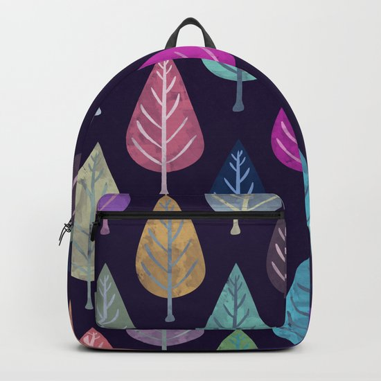Watercolor Forest Pattern IV Backpack