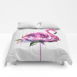 Flower Flamingo Comforters