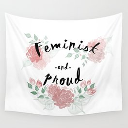 Feminist & Proud Wall Tapestry