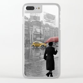 Yellow Cabs New York 2 Clear iPhone Case