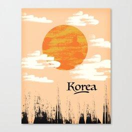 Korean Setting sun block art Canvas Print