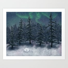 Wintry Forest Art Print