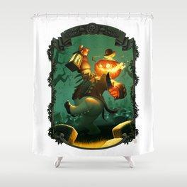 Jack-O-Lantern Shower Curtain