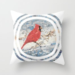 """Cardinal"" Throw Pillow"