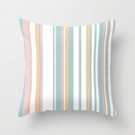 Coastal Stripes Throw Pillow