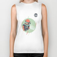 holographic Biker Tanks featuring Future is Hollow Graphics by RJ Artworks