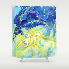 Equinox Night and Day Shower Curtain