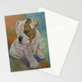 Bulldog Puppy Stationery Cards