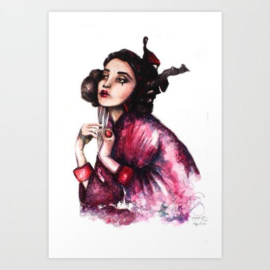 Geisha Girl // Fashion Illustration Art Print