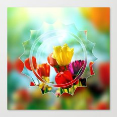 Tulips in the sunshine Canvas Print