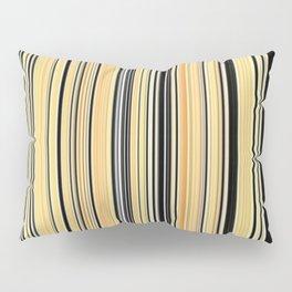High Society Vintage Yellow Black White Stripes 001 Pillow Sham