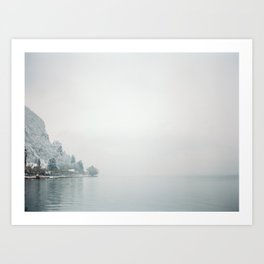 Annecy under the snow - French Alps Art Print