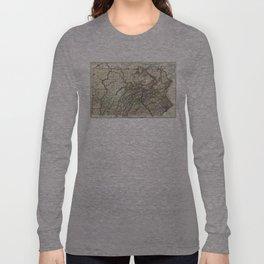 Vintage Map of Pennsylvania (1797) Long Sleeve T-shirt
