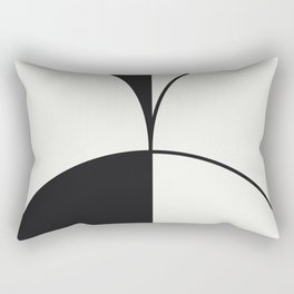 Diamond Series Round Solid Lines Charcoal on White Rectangular Pillow