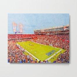 Florida Gators - Football Stadium Metal Print