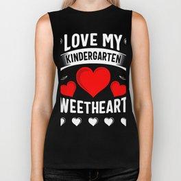 Love My Kindergarten Sweethearts Biker Tank