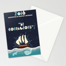 Be Courageous! (Ship and Sea Creatures) Stationery Cards