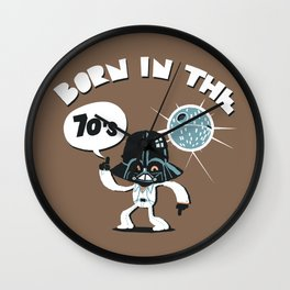 Born in the 70's Wall Clock