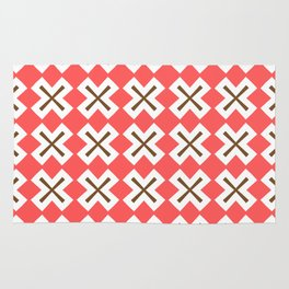 Chocolate Brown + Coral: Pattern No. 4 Rug