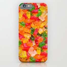 Gummy Bears Real Candy Pattern iPhone Case
