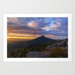 Valley Skyscape Art Print