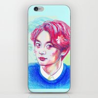 shinee iPhone & iPod Skins featuring SHINee Minho by sophillustration