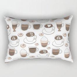 Coffee Cups Rectangular Pillow